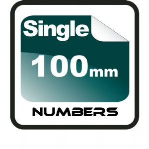 10cm (100mm) Race Numbers
